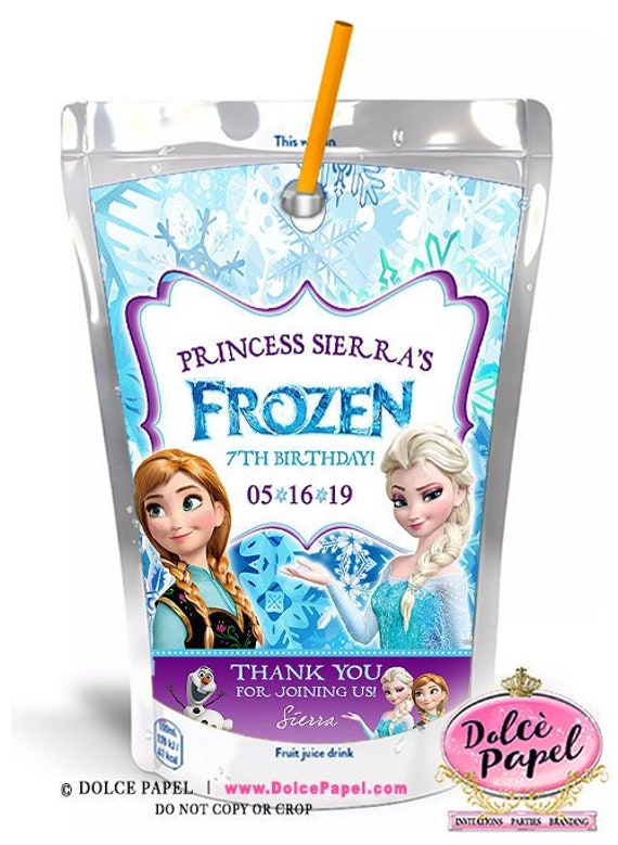8 Frozen Movie Capri Sun Labels Geburtstag Any Age Elsa Anna Etsy