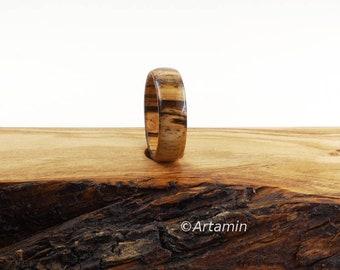 Zebra Wood Ring