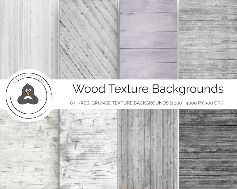 Light Grey Wood Digital Paper Pack Photoshop Wood Textures Etsy