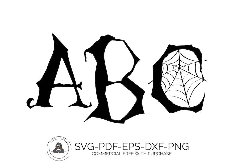 Monogram Fonts for Cricut Halloween Font SVG Fonts Monogram Fonts Silhouette Font Monogram Font SVG Cameo Fonts SVG Fonts for Cricut