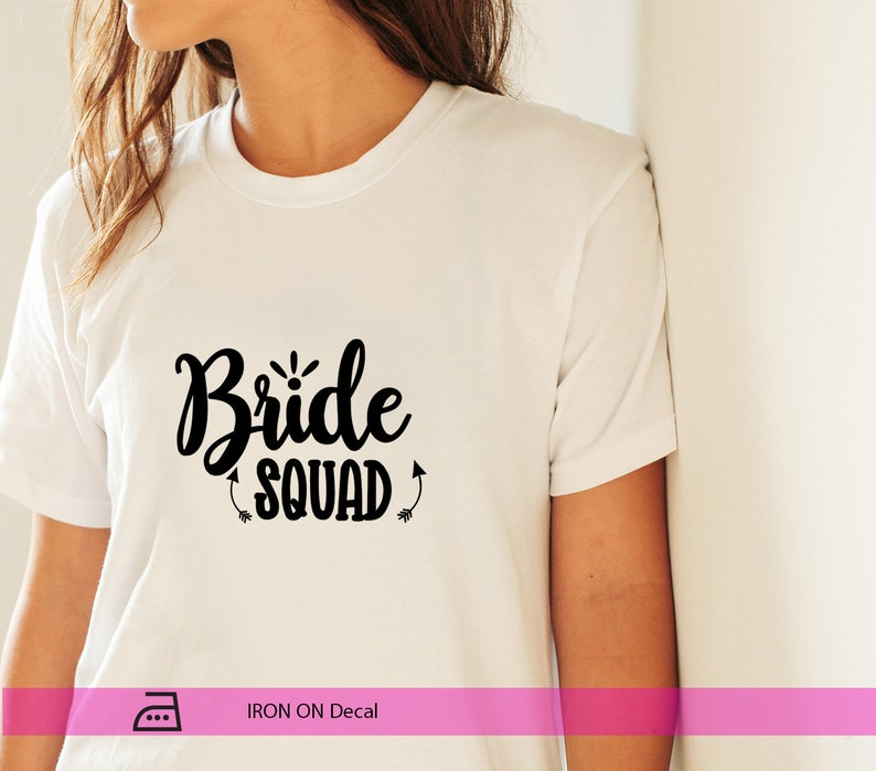 HTV Decal Rose Gold IRON ON Bride Squad Decals Hen Party Decals T-Shirt Decals Wedding Labels Bride Squad Labels Htv Decals
