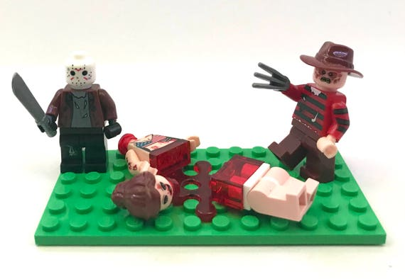 Jason Inspired Custom Lego Minfigure with Bloody Machete and Free Collector Card