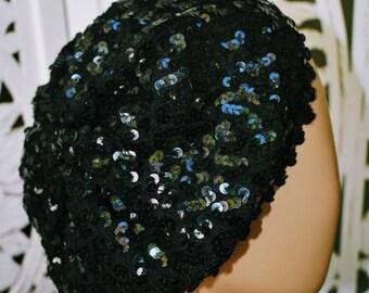 7de9bbd164867 ViNtAgE 80s sequin beret