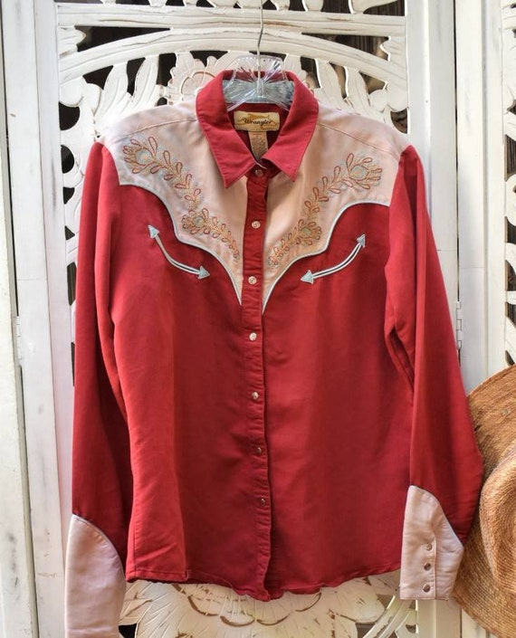 Vintage 90s does 40s western shirt with embroidery