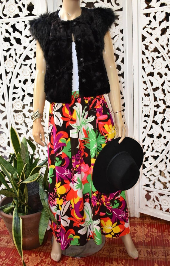 PSYCHEDELIC vintage 60s/ 70s maxi skirt