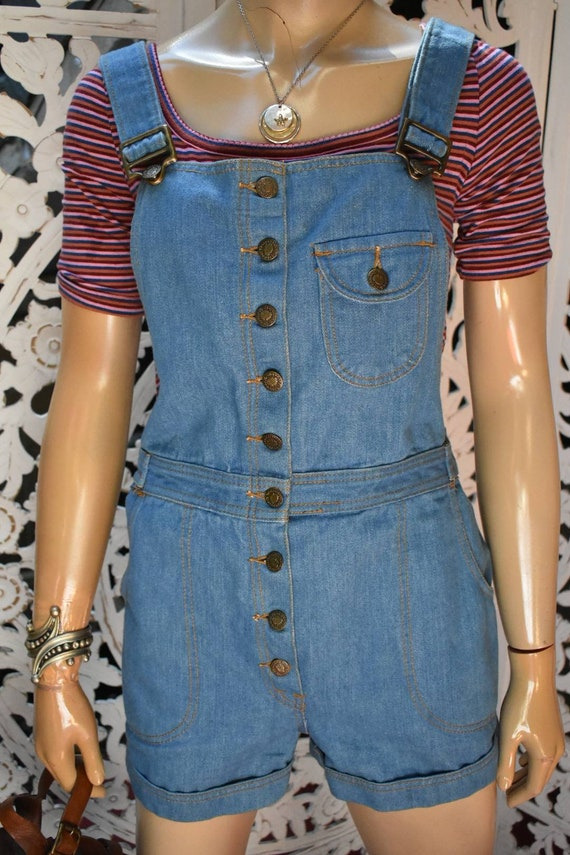 "RARE 1970s short overalls by ""Grapevines"""