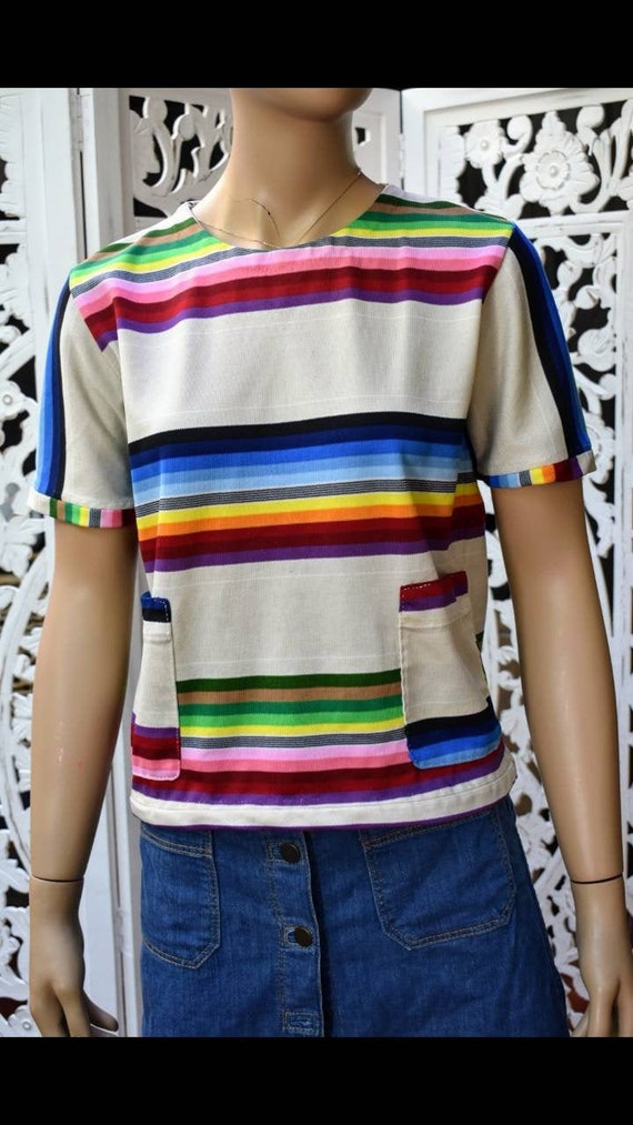 ViNtAgE 70s serape print top. No label. Size M