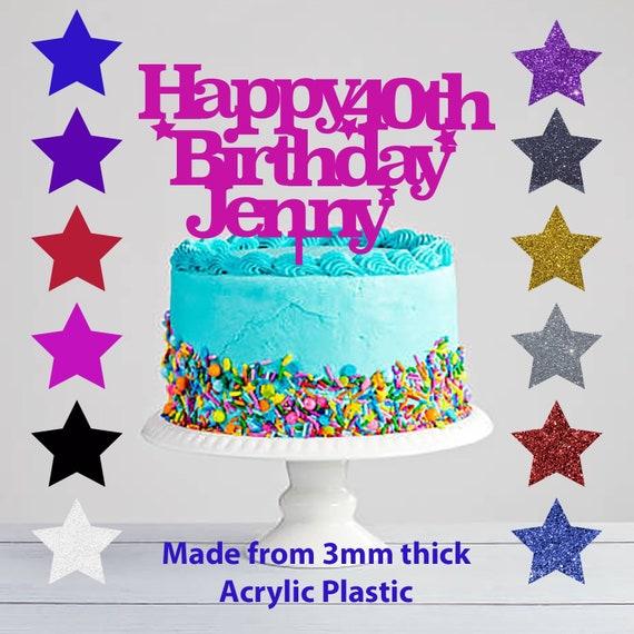 Prime 40Th Birthday Acrylic Cake Topper Birthday Acrylic Cake Etsy Funny Birthday Cards Online Benoljebrpdamsfinfo