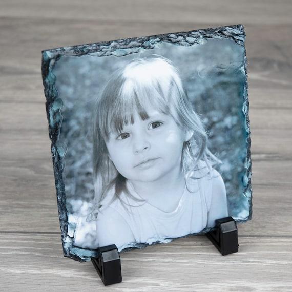 Persoanlised Any Photo Rock Semi Oval Shape Slate 20cm x 20cm