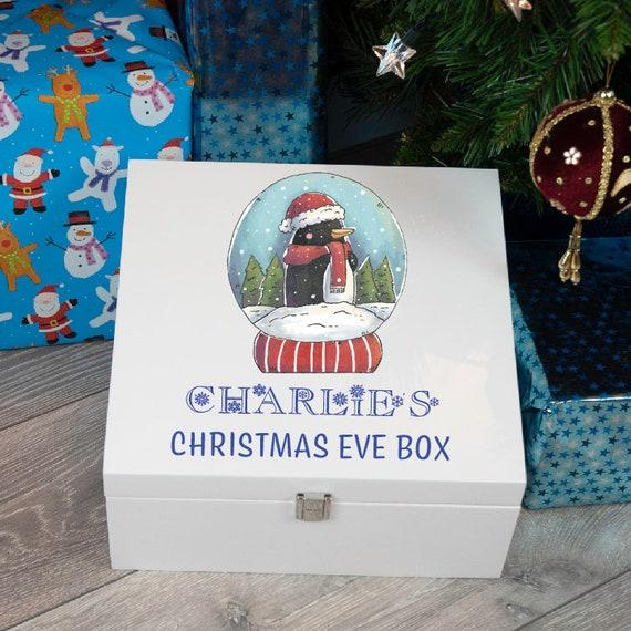 Xmas 3 Penguin Christmas Stacking Gift Boxes Christmas Eve Box Cute Gift Box