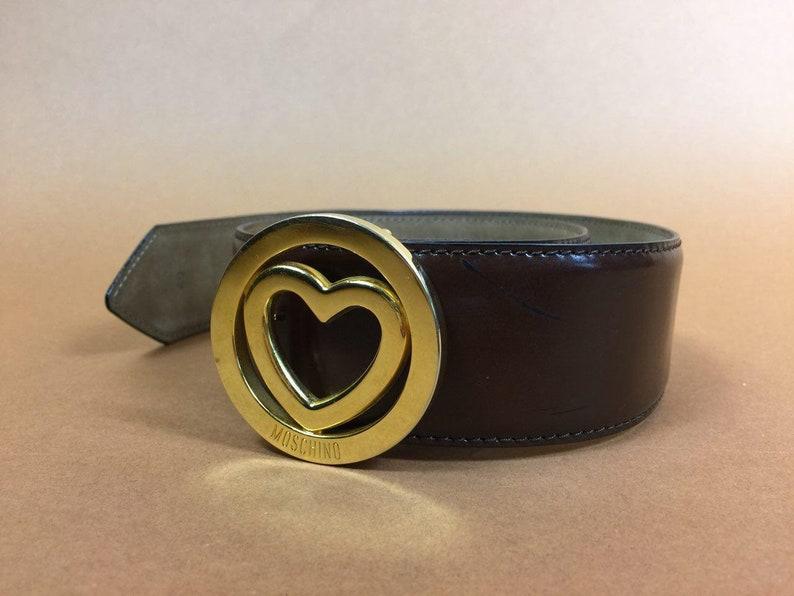 203ce11d76b MOSCHINO Belt 1990s Vintage Brown Women Designer Belt Moschino   Etsy