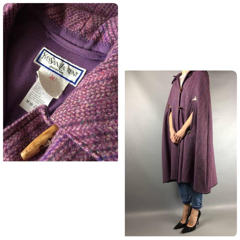 Vintage Cape Purple Vintage 70s Wool Coat