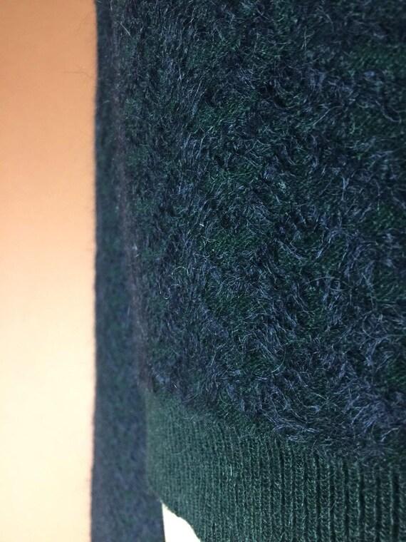 Cardigan Green Etro Wool ETRO Neck Sweater Authentic Milano Top Knitted Turtleneck Cowl Designer Vintage Mohair Sweater Warm Vintage 90's WEfn5Fzc