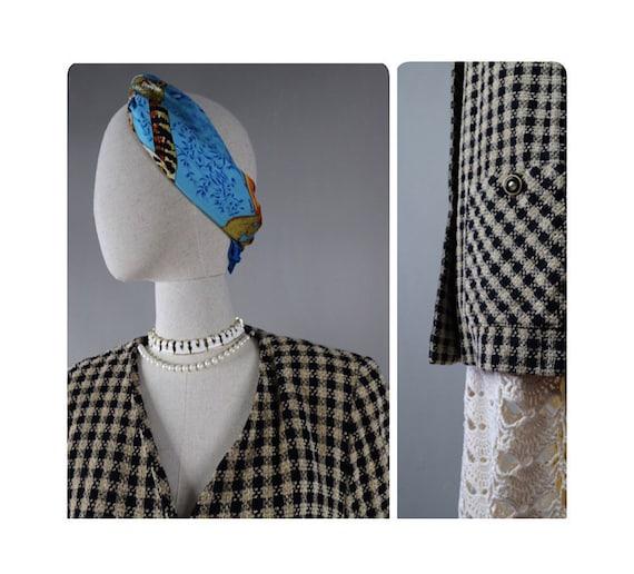 Long checkered jacket Oversized 90s Vintage