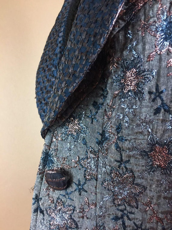 Blazer Victorian 8Us LACROIX Jacket Infant Beaded Brocade 90's Embroidered Shimmering 1980's Gold Women's Medium Terrible Vintage CHRISTIAN qdwzqP