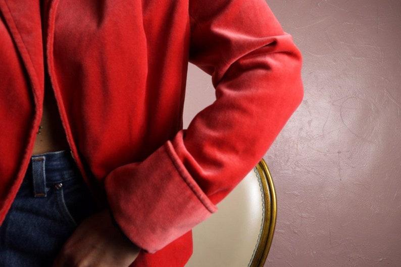 352b4a1794 80s Velvet Vintage Jacket Orange Womens Fitted Formal Casual | Etsy