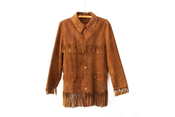 1940's - 1950's BANTAMAC Brown Suede Leather Fring