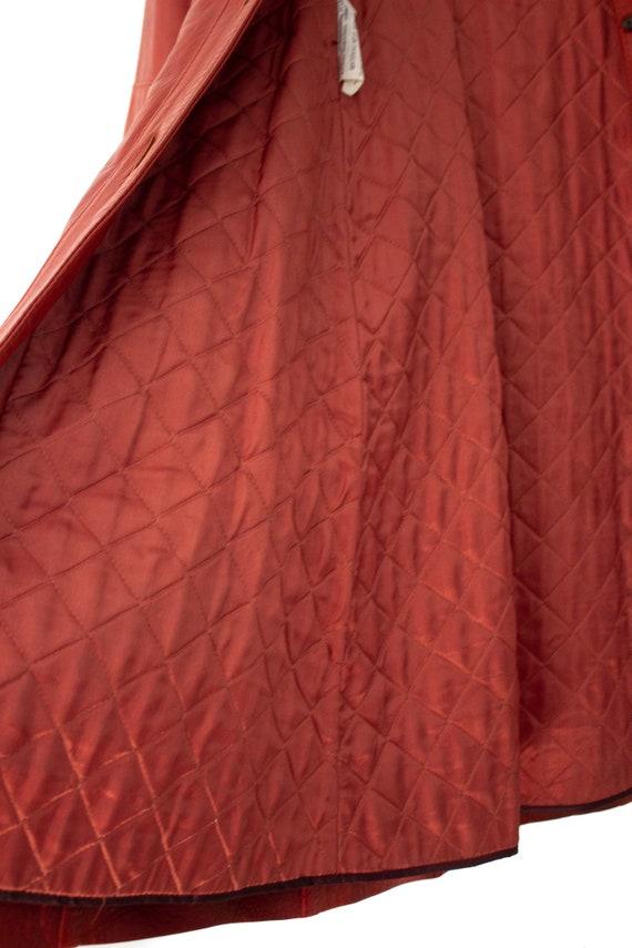 1960's - 1970's Orange-Brown Leather Duster Jacke… - image 8
