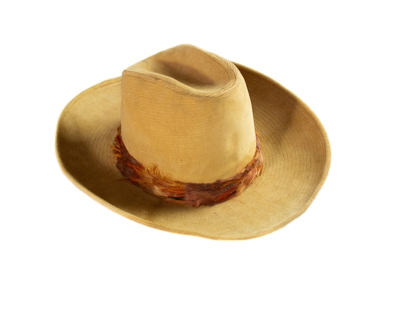 Deadstock 1960's Vintage Corduroy Cowboy Hat with