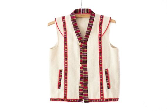 Vintage Folkloric Embroidered Wool Vest | Boho Hip