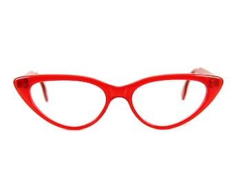 001cb037dd Are you ready for RED  Big bold 50s style Cat eye glasses Beautiful sexy  large contemporary  BARDOT