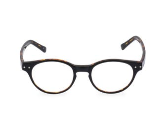 d0aeafc790f9 Classic 40s style HANDMADE spectacles  MILLER  in Black Tortoise for men    women. Unique double layer Italian acetate.Rx Frame or readers