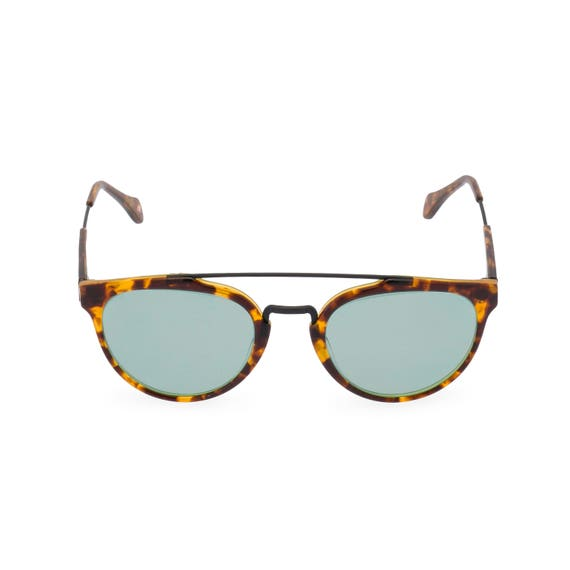 1940s Sunglasses, Glasses & Eyeglasses History 40s 50s vintage style mens sunglasses Raffles double bridge Amber Tortoise with Vintage Green sun lens Handmade Ltd Edition $93.38 AT vintagedancer.com