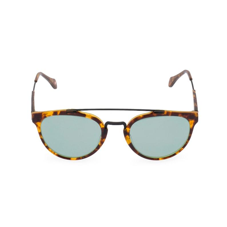 Retro Sunglasses | Vintage Glasses | New Vintage Eyeglasses 40s 50s vintage style mens sunglasses Raffles double bridge Amber Tortoise with Vintage Green sun lens Handmade Ltd Edition $83.52 AT vintagedancer.com