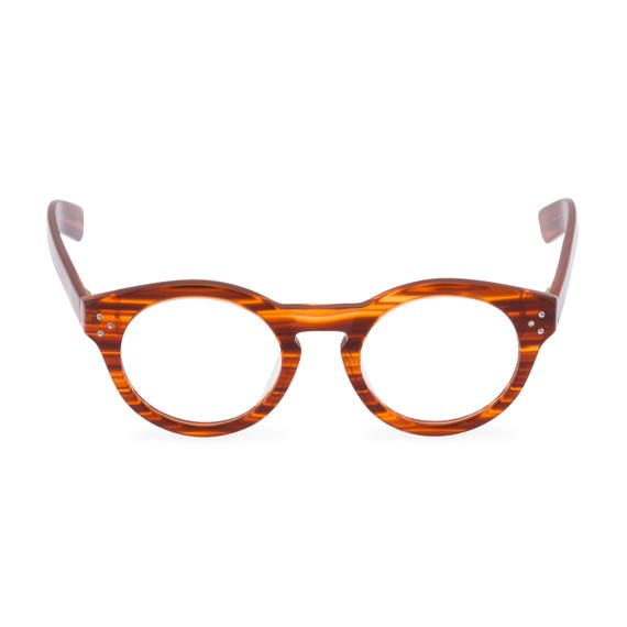 1930s Men's Clothing 1930s FLYNN in Amber round designer eyeglasses. Heads will turn! $54.48 AT vintagedancer.com