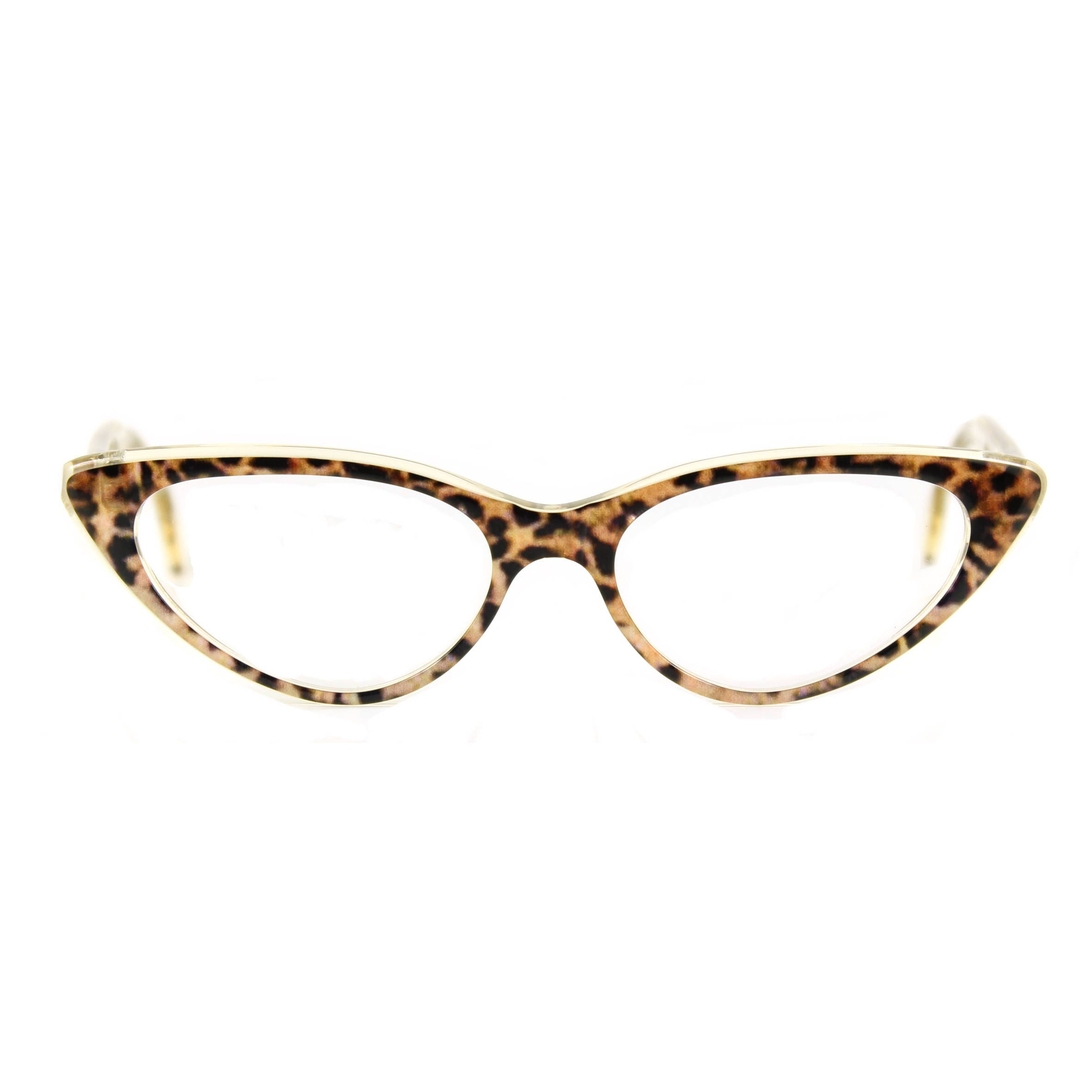 Katze-Brille schöne sexy große \'BARDOT\' \'Ozelot