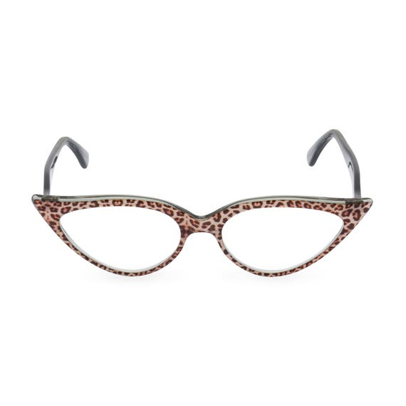 Women/'s VINTAGE 60s CAT EYE Style Clear Lens EYE GLASSES Clear Crystals Handmade