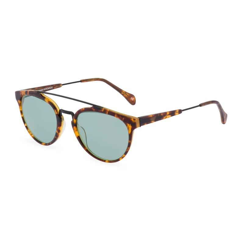 Retro Sunglasses | Vintage Glasses | New Vintage Eyeglasses 40s 50s vintage style mens sunglasses Raffles double bridge Amber Tortoise with Vintage Green sun lens Handmade Ltd Edition $99.51 AT vintagedancer.com