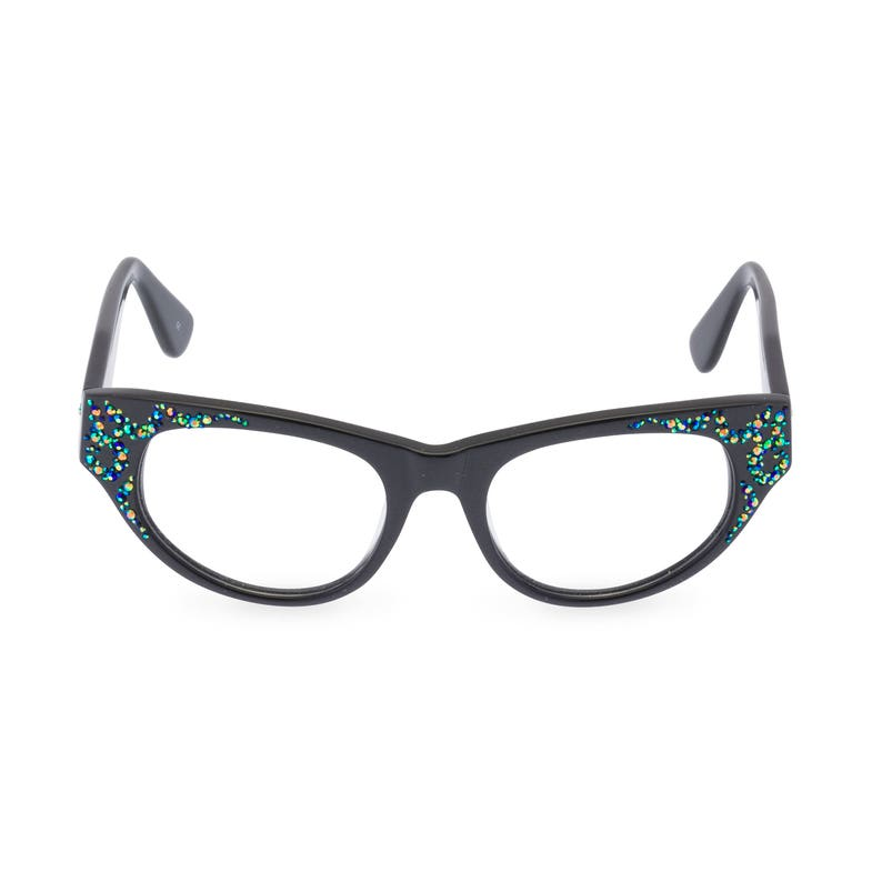 6e9aba92b440e Modified cat eye glasses  AURORA  in Pewter Bold