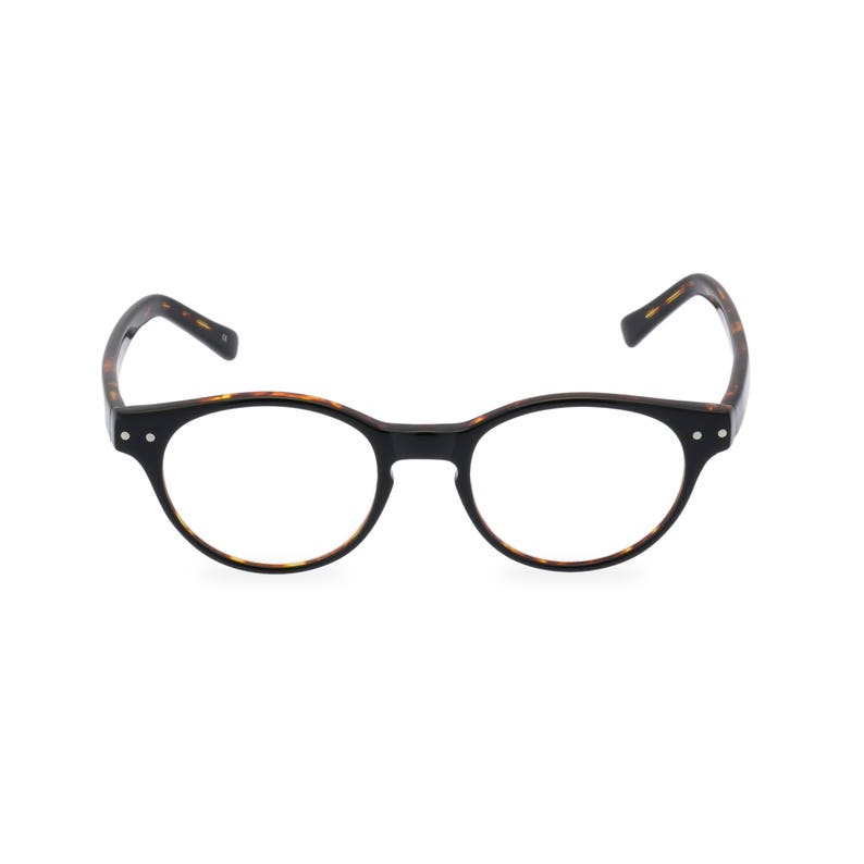 1950s Jewelry Styles and History Classic 40s style HANDMADE spectacles MILLER in Black Tortoise for men & women. Unique double layer Italian acetate.Rx Frame or readers $59.35 AT vintagedancer.com