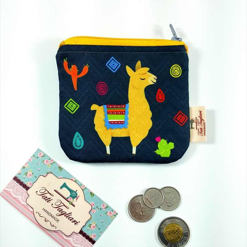Zippered Small Pouch for Coins and Cards  Tiny Bag for image 0
