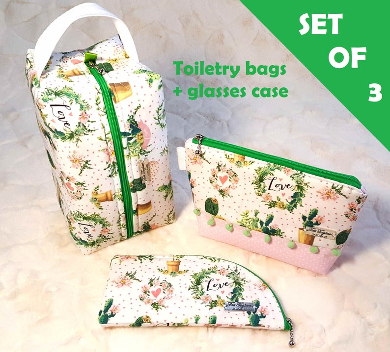 Toiletry bags glasses case made of fabric women's image 0