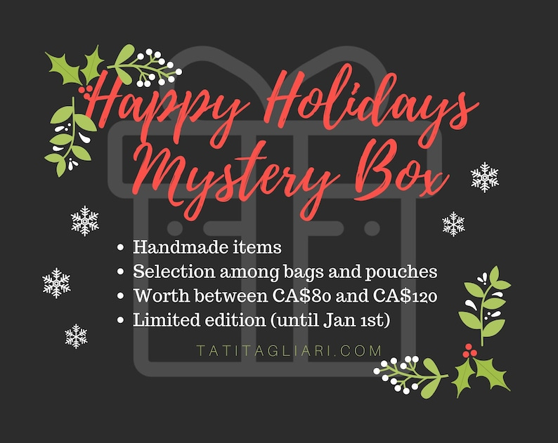 Happy Holidays Mystery Bargain Box with bags and pouches  image 0