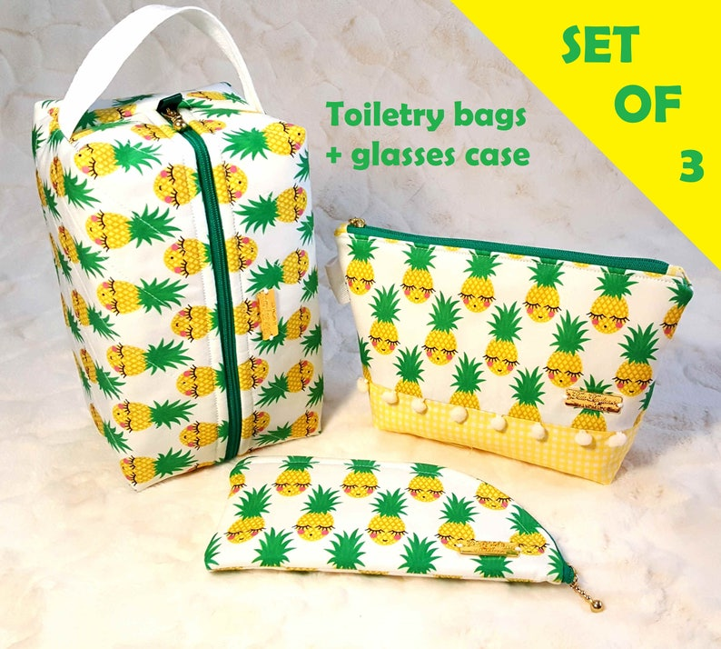 Toiletry Bags sold as set or separate with Box Bag Medium image 0