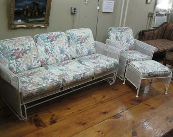Iron Glider Set of Sofa / Couch, Chair, and Ottoman - #00250