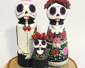 Day of the dead wedding cake toppers | Etsy