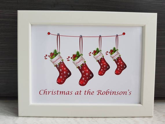 Personalised 5x7 Photo Frame Christmas At The Family Etsy
