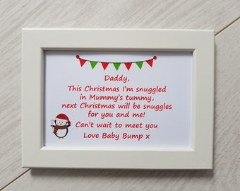 Best Friends we'll be my Daddy and me frame gift present new dad to be from baby bump 1st First Christmas Birthday