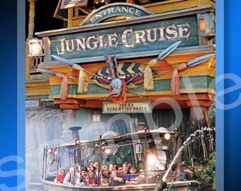 New! Disneyland Jungle Cruise Attraction 4x6 Lanyard Badge Luggage Tag Magic Kingdom Adventureland Ride Walt Disney Parks Passholders D23