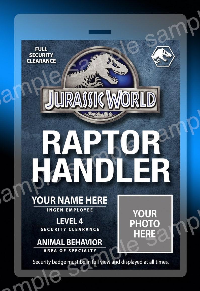 b1bd07d6dce New Personalized Jurassic World Raptor Handler Replica Prop