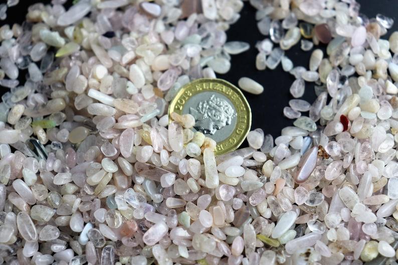 Arts Crafts Extra Small Morganite Crystal Chips 50g Bags