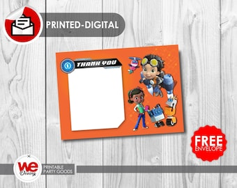 Rusty Rivets  thank you card,Rusty Rivets  party,Rusty Rivets  invite,Rusty Rivets  birthday