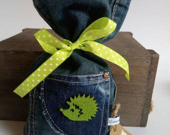 Money bag denim recycling