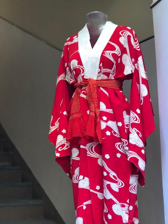 Vintage Juban (Kimono shirt) / 30s from Japan - image 5