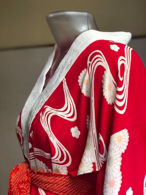Vintage Juban (Kimono shirt) / 30s from Japan - image 3