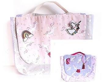 97fa0b832d04 Unicorn satchel | Etsy